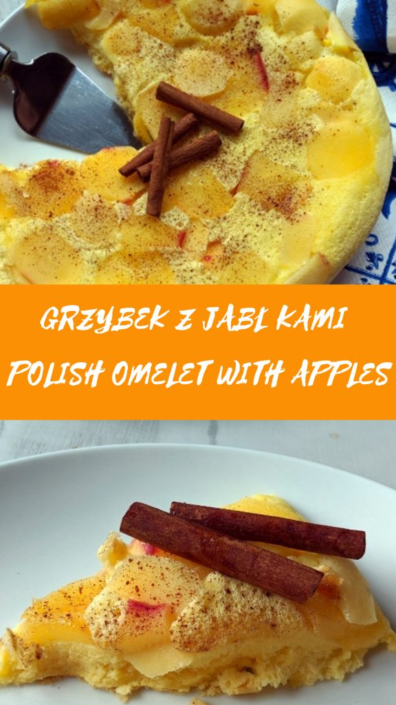 Grzybek z jabłkami (spongy omelet with apples)